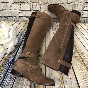 UGG Cydnee Riding Boots Fawn Brown Suede Leather